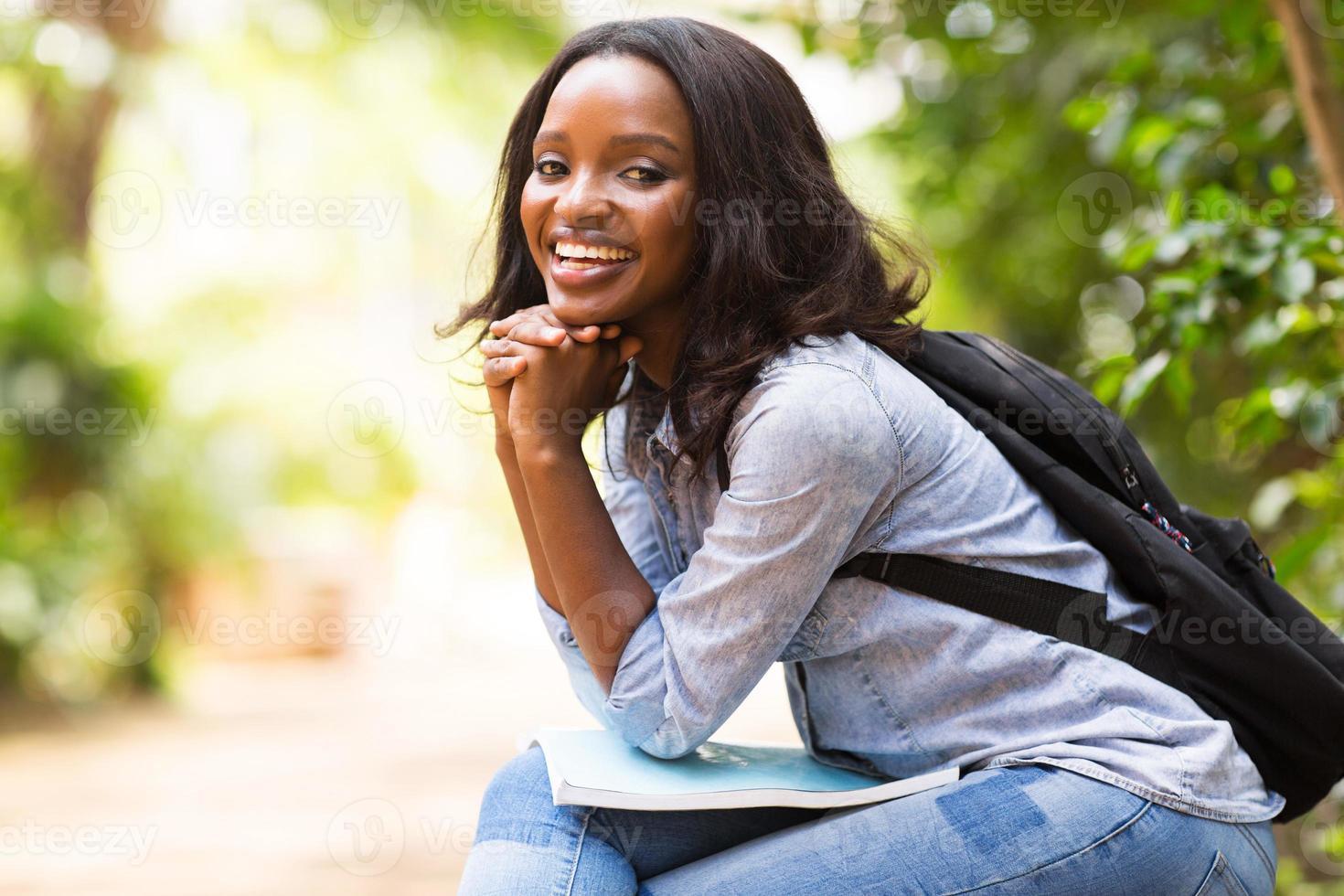 weibliche afroamerikanische Studentin foto