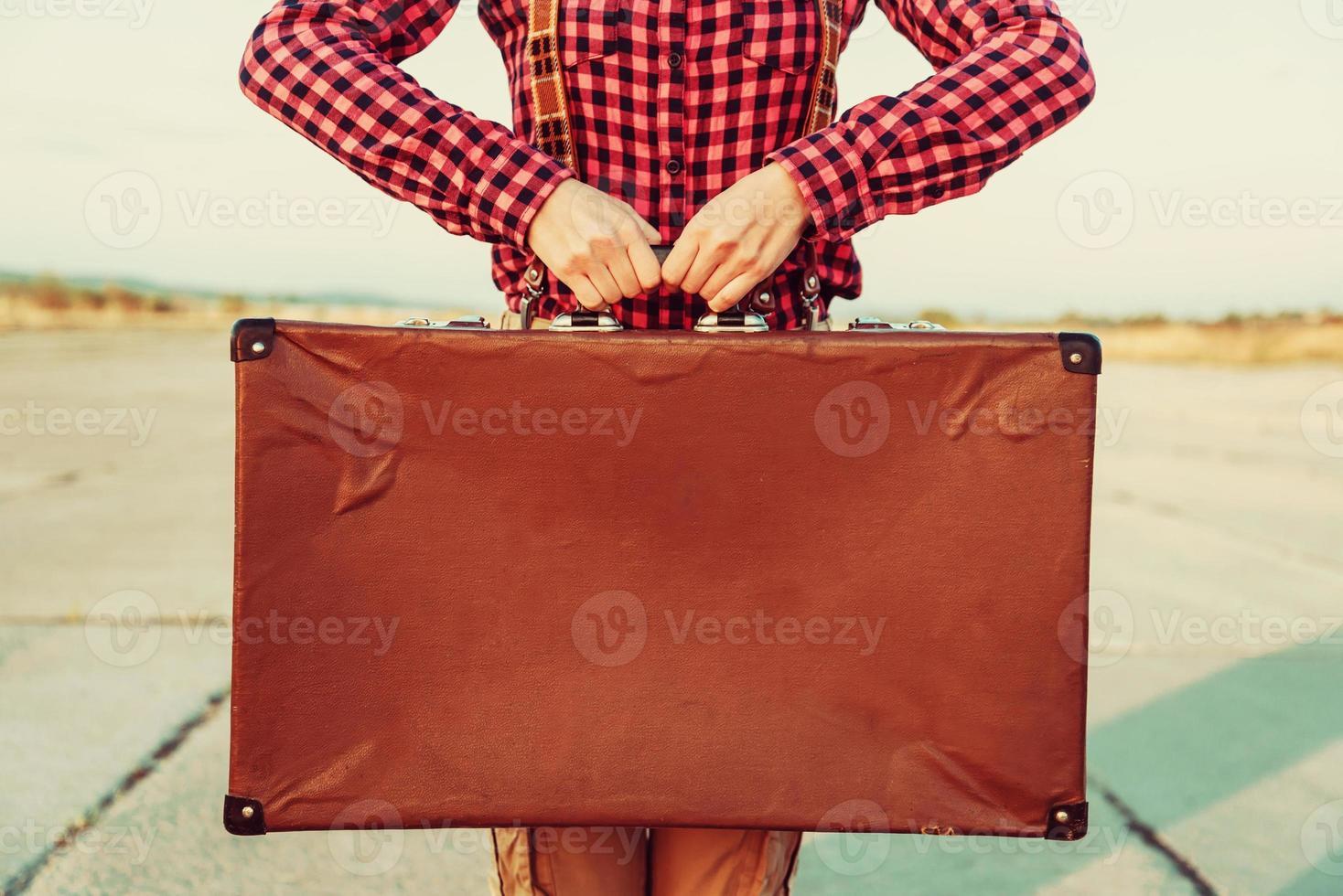 Vintage Koffer, Kopierraum foto