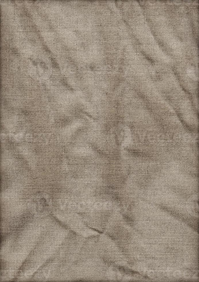 hochauflösende Künstler Leinen Ente Leinwand zerknittert gebeizte Vignette Grunge Textur foto