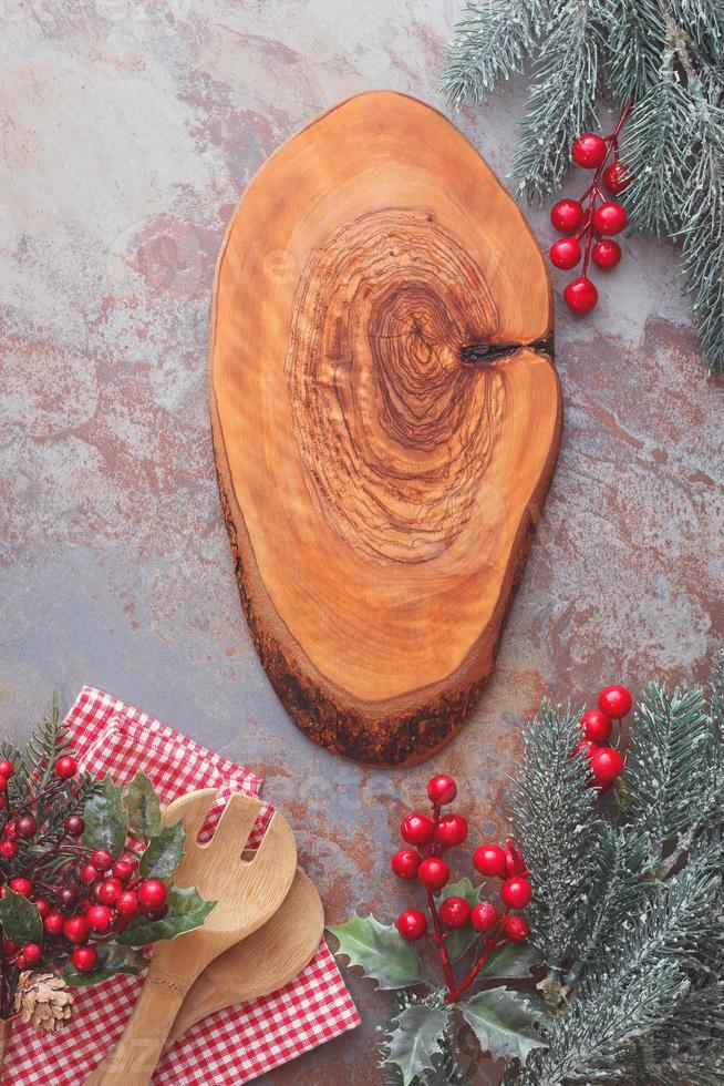 Weihnachtsmenü-Tafel foto