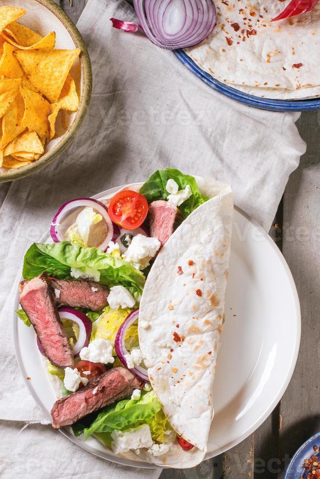 Abendessen im mexikanischen Stil foto