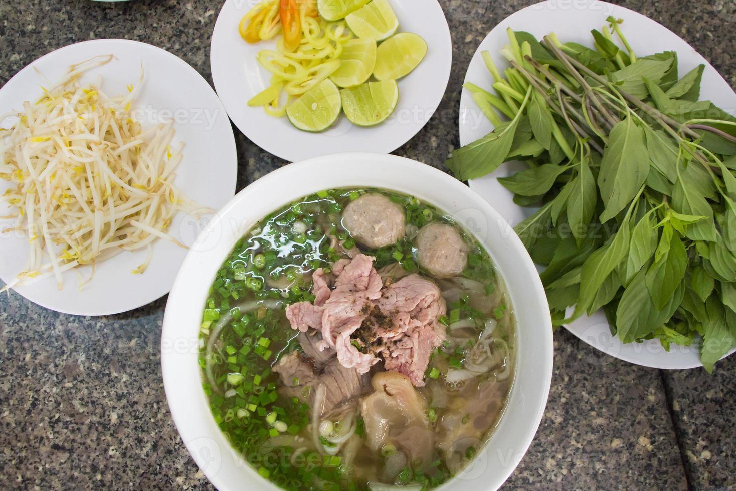 Vietnam Nudel in Ho Chi Minh Stadt gesetzt foto