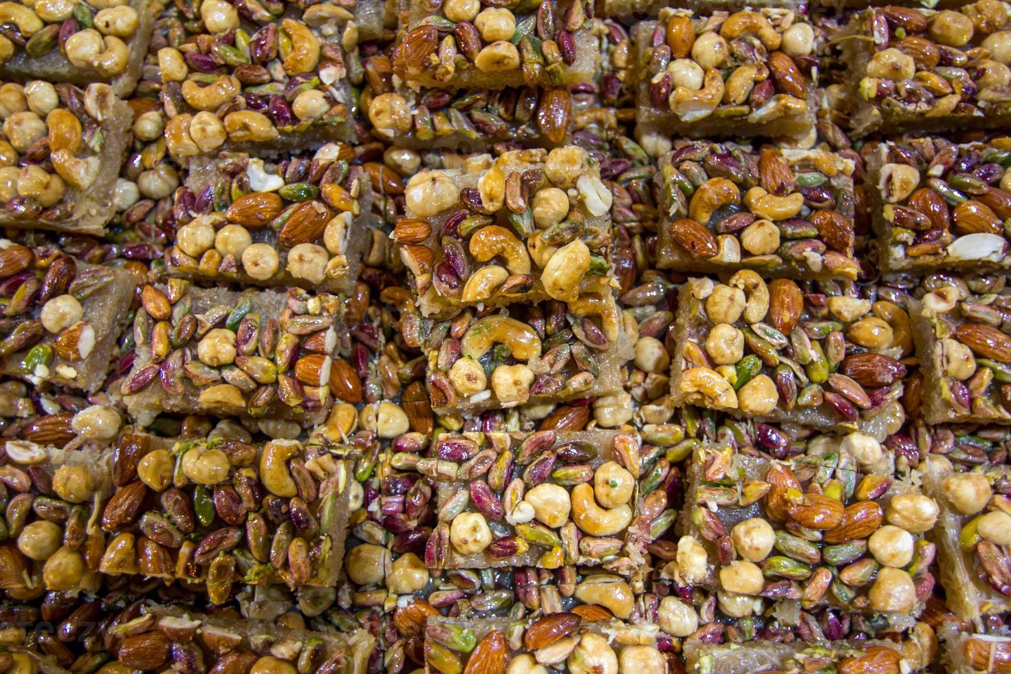 Art von türkischen Desserts foto