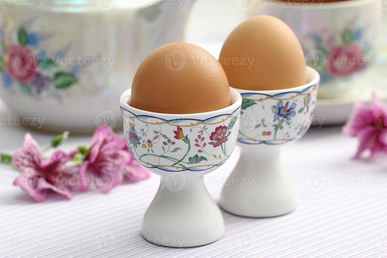 gekochte Eier foto