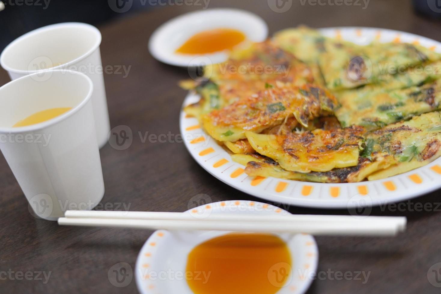 koreanische Pfannkuchen foto