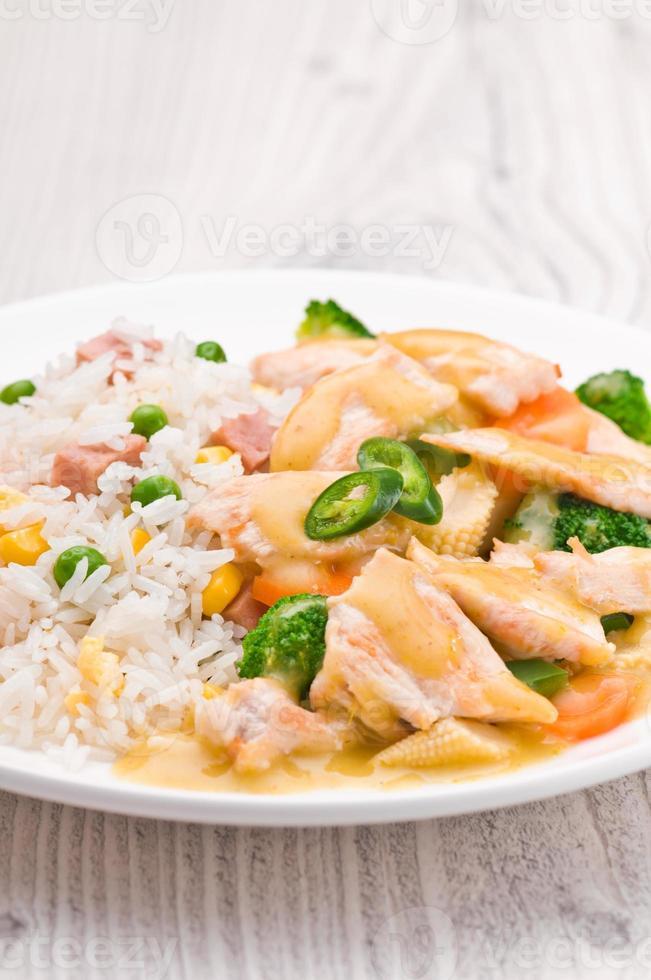 thailändisches grünes Currygericht foto