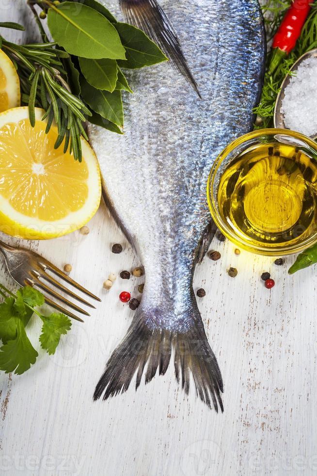 Fisch kochen foto