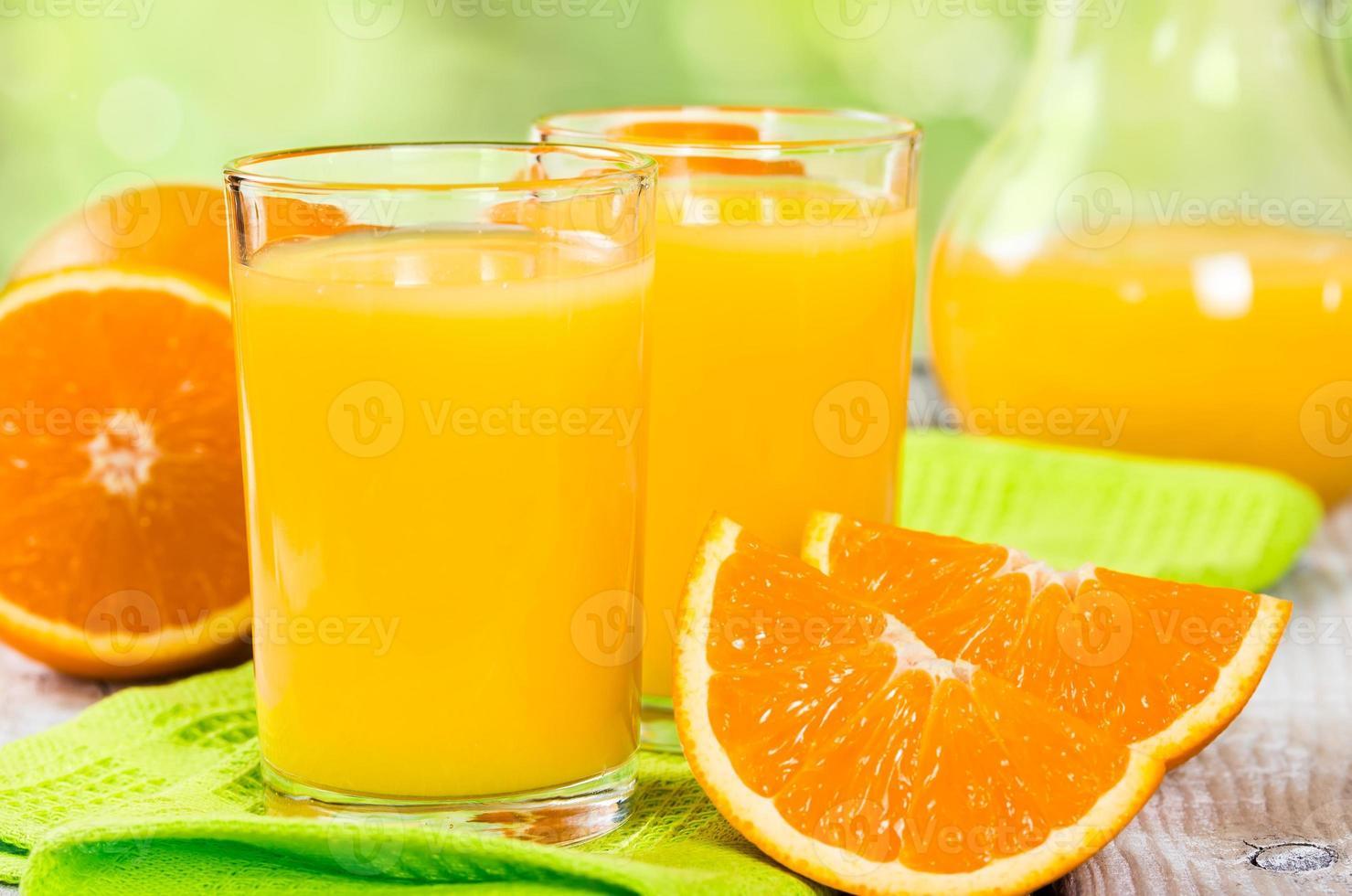 frischer Orangensaft foto