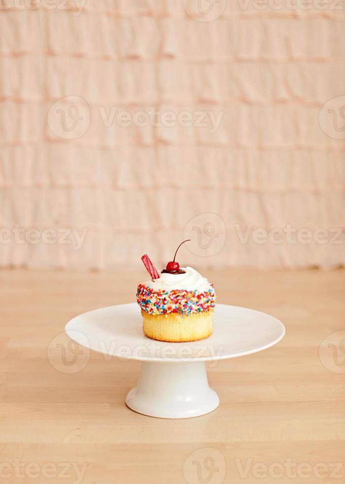 altmodischer Shake Cupcake foto