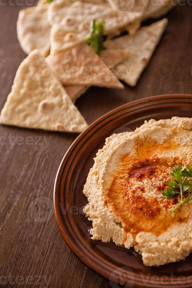 frischer Hummus foto