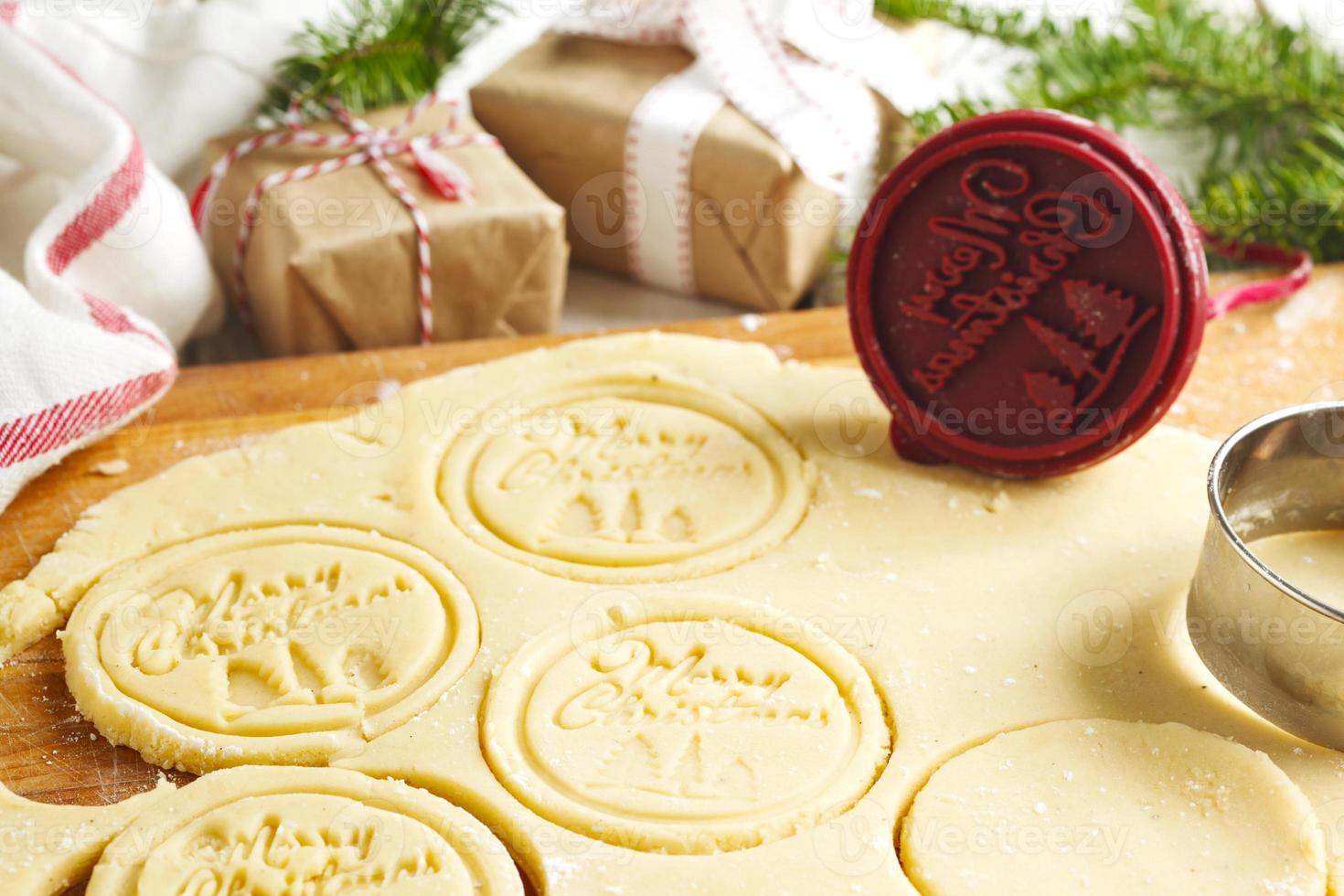 Weihnachtsbacken. foto