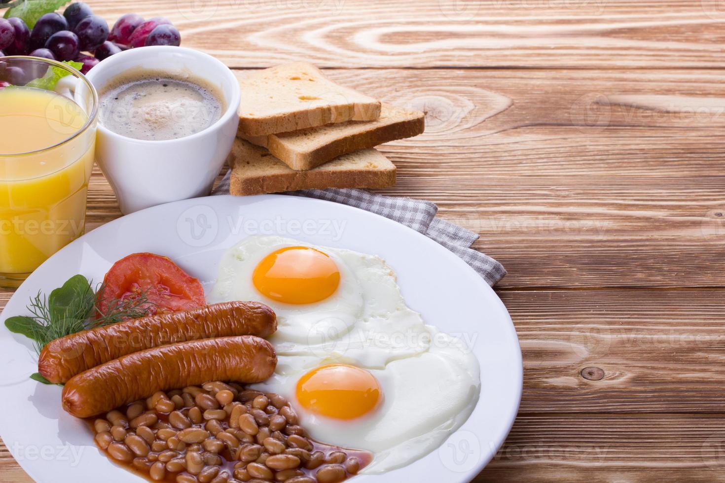 komplettes englisches Frühstück foto