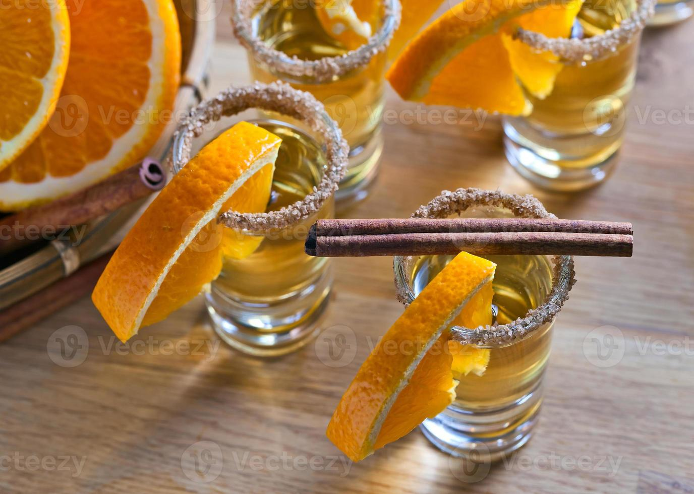 Tequila mit Orange foto