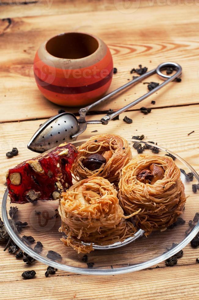 vier Kuchen Rezept orientalische Süßigkeiten foto
