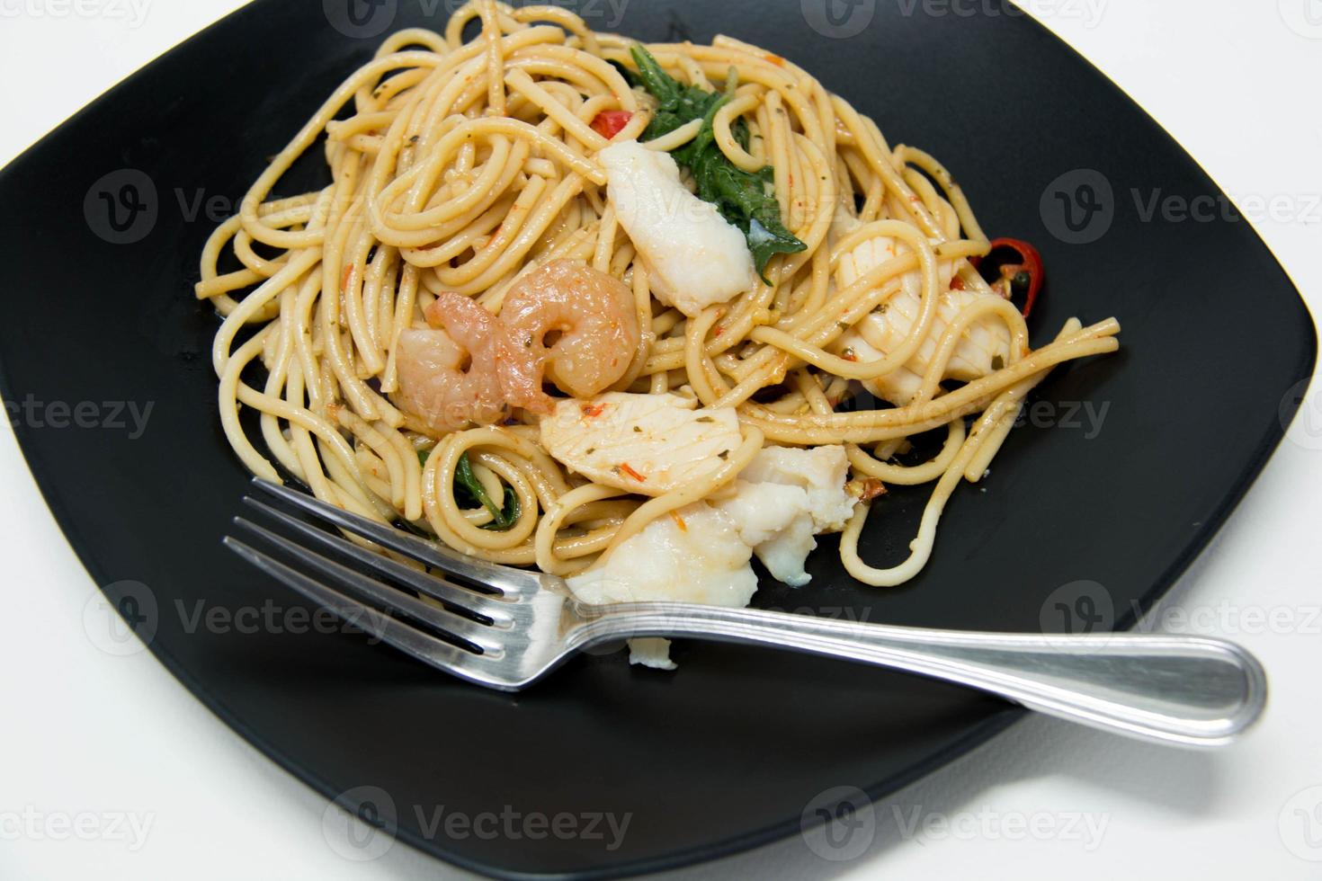 italienisches Rezept: Spaghetti und Meeresfrüchte foto