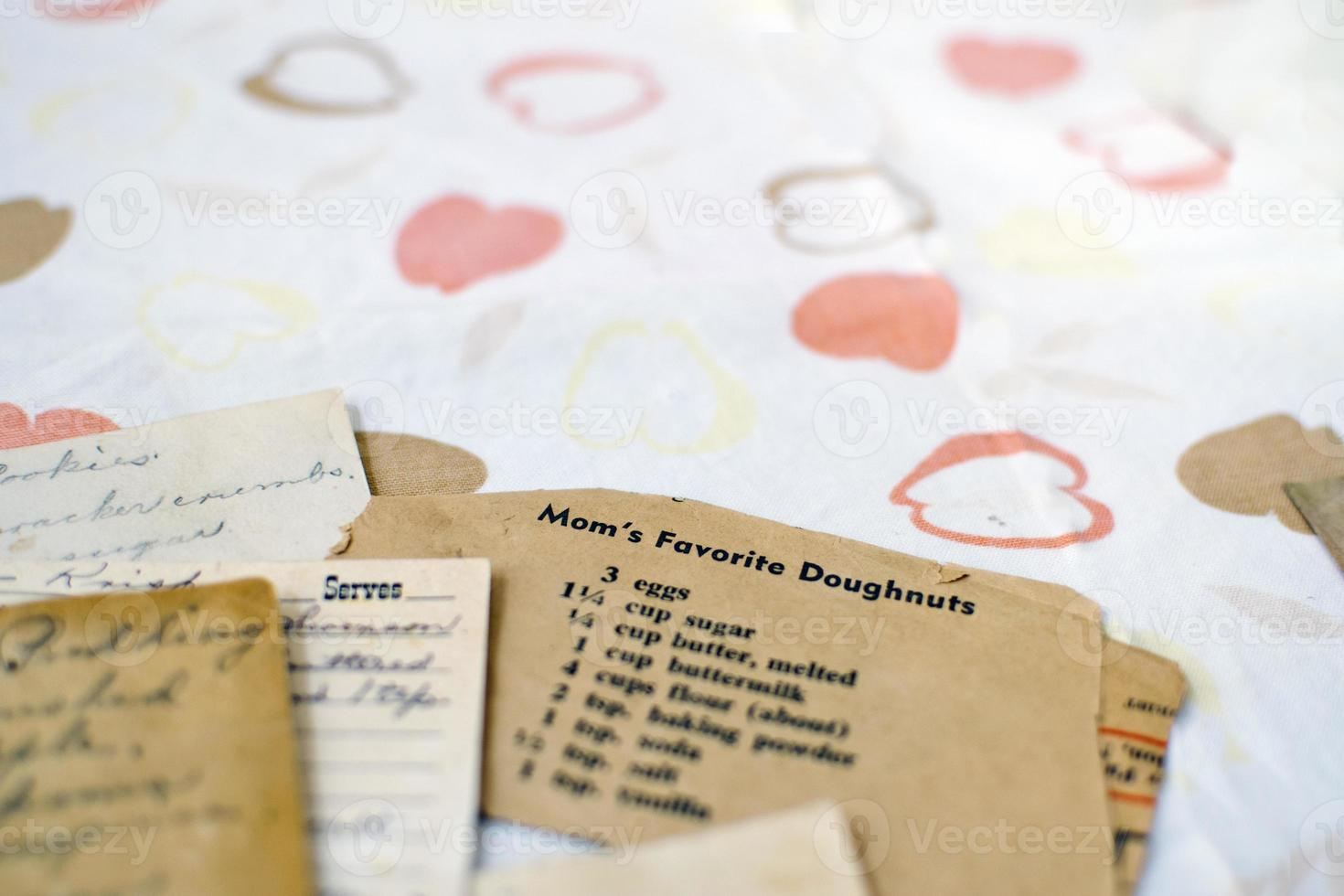 Rezeptkarte mit Platz zum Kopieren foto