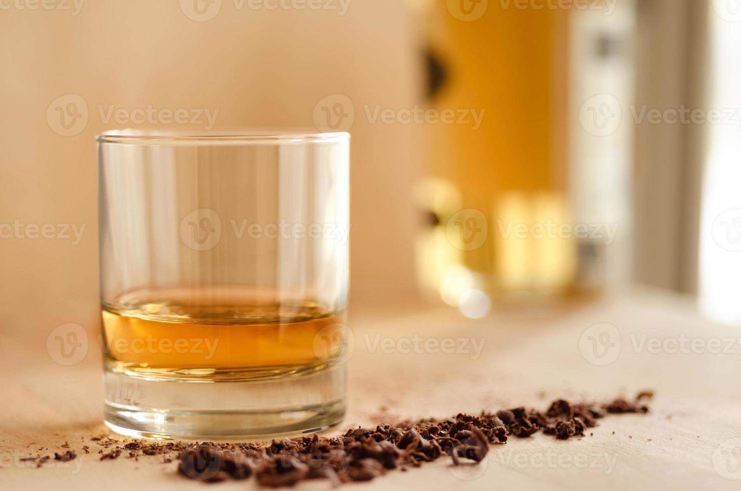 Whisky und Schokolade foto
