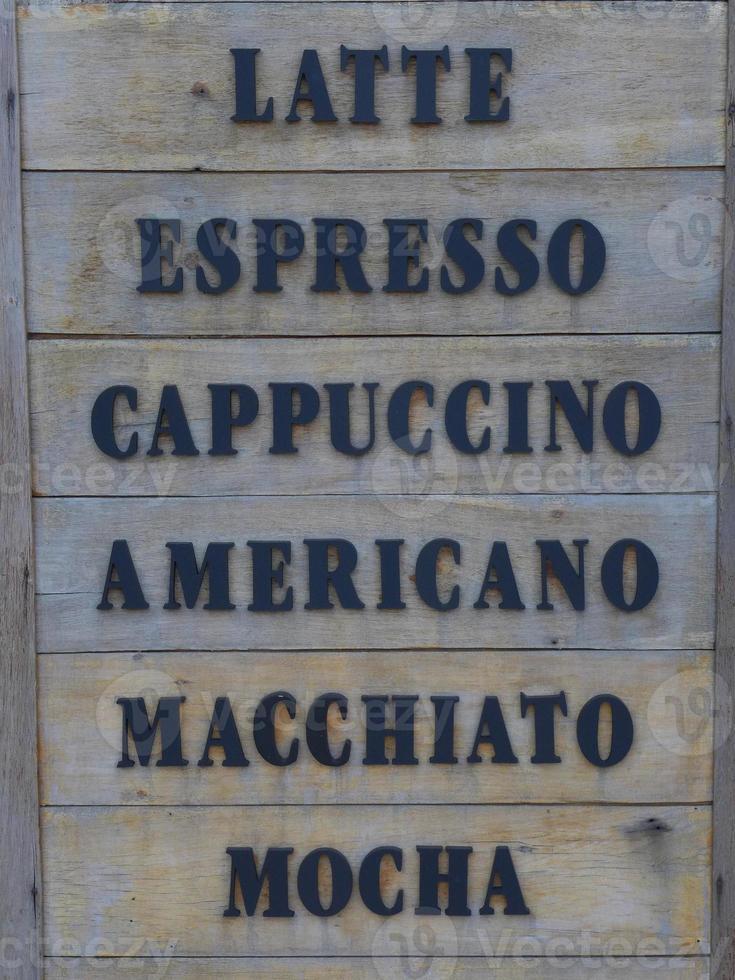 Kaffeekarte foto