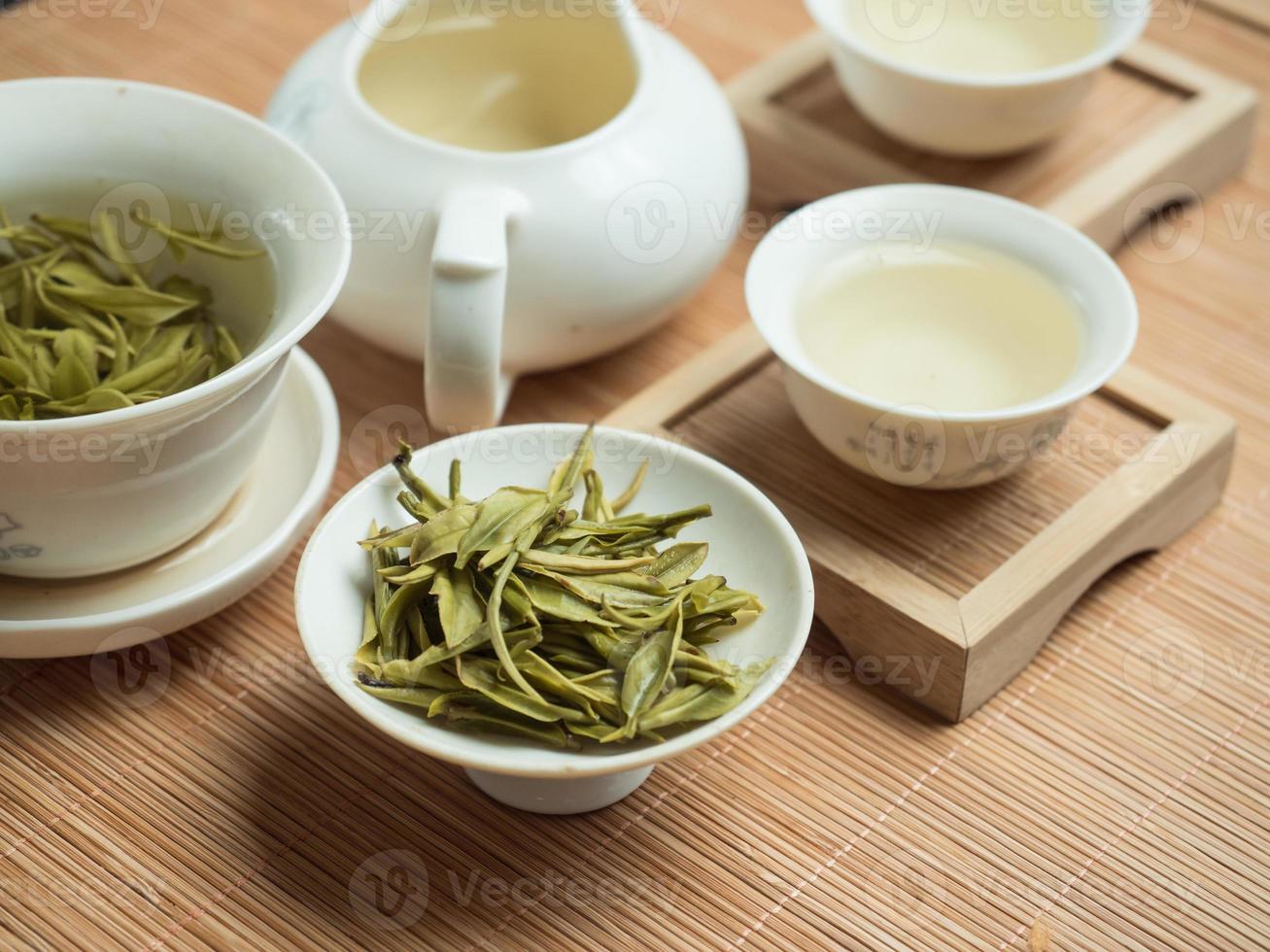 chinesisches Teeservice / grüner Teeservice foto