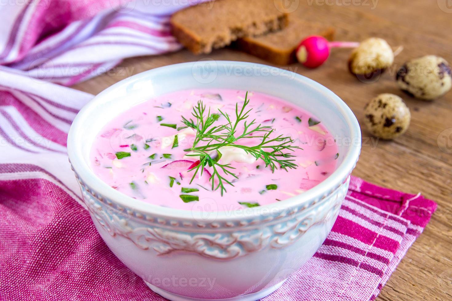 kalte Suppe mit Gemüse foto