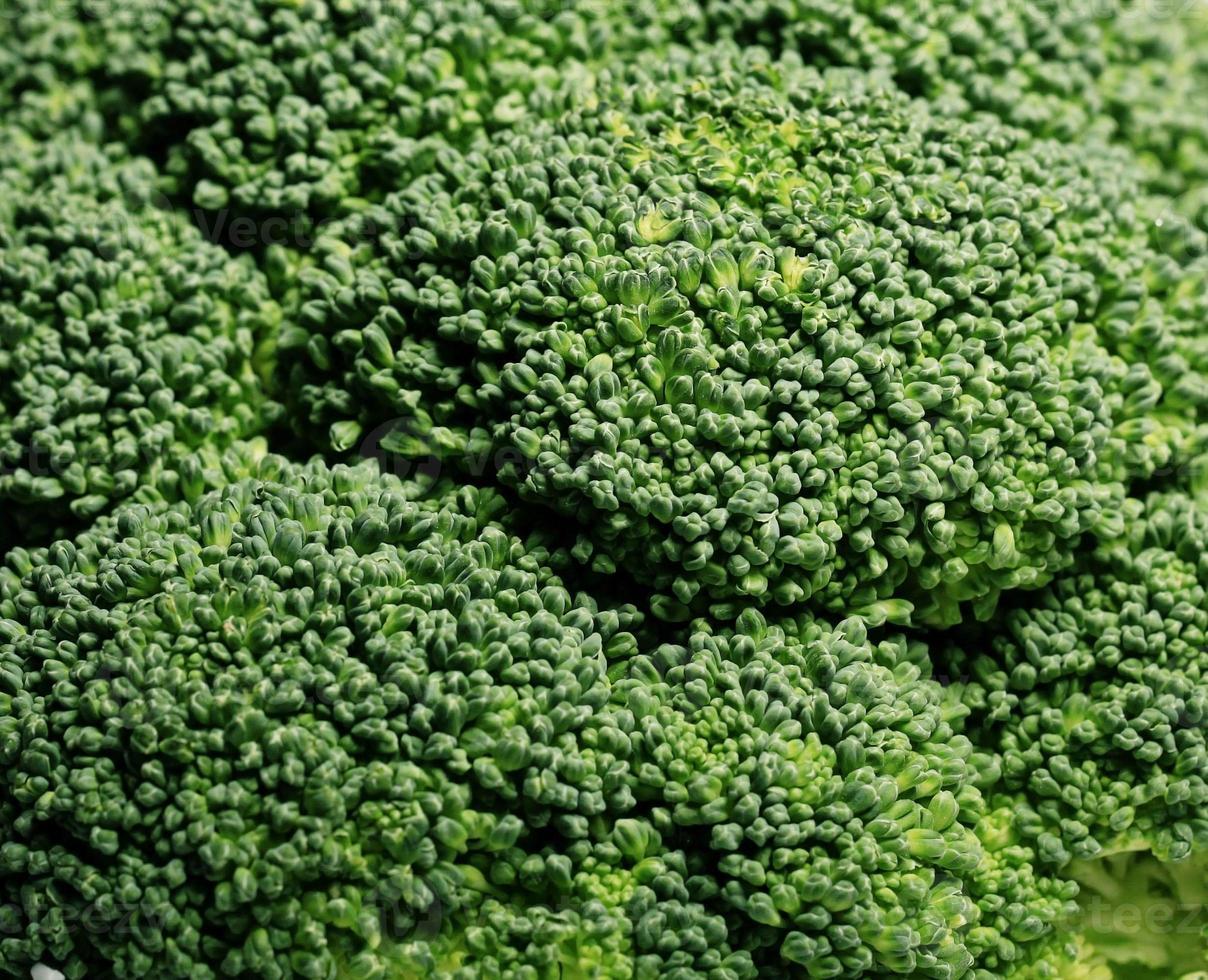 Makrotextur des grünen Brokkolis foto