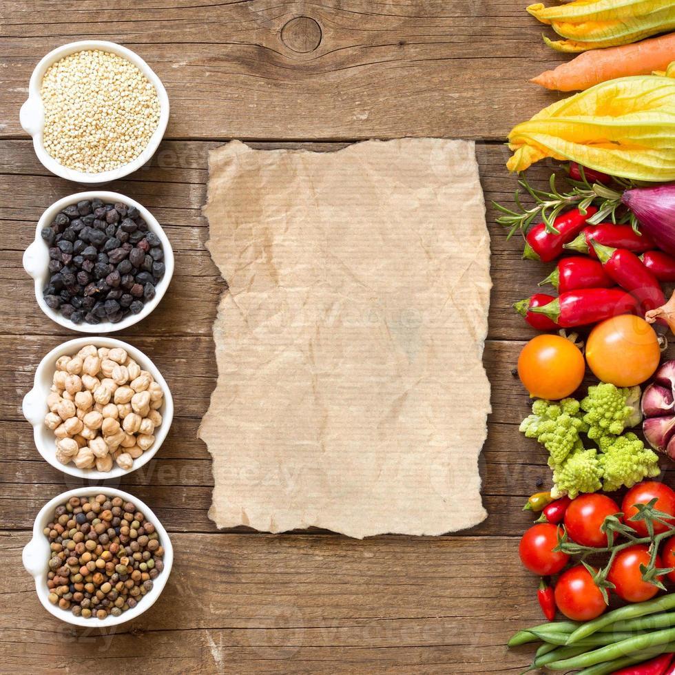 Getreide, Hülsenfrüchte und Gemüse foto