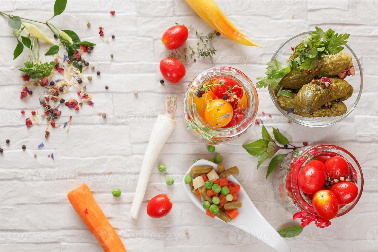 eingelegtes Gemüse foto