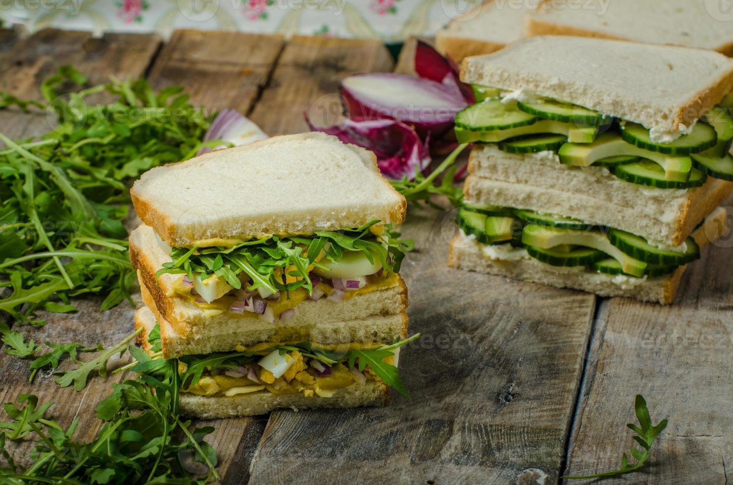 gesundes vegetarisches Sandwich foto
