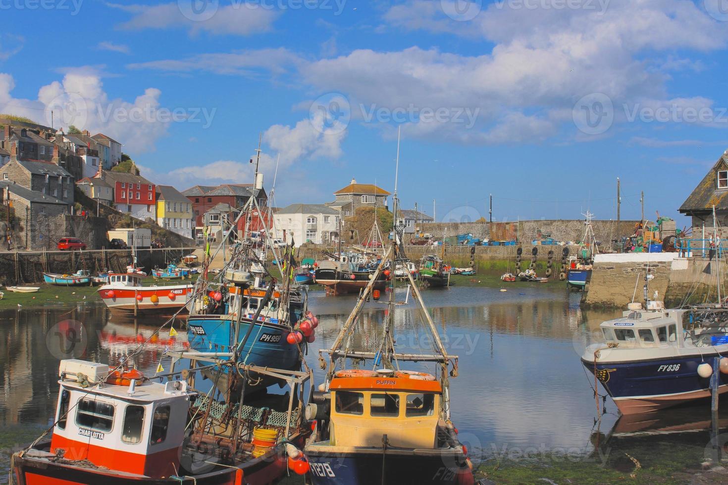Hafen in Cornwall foto