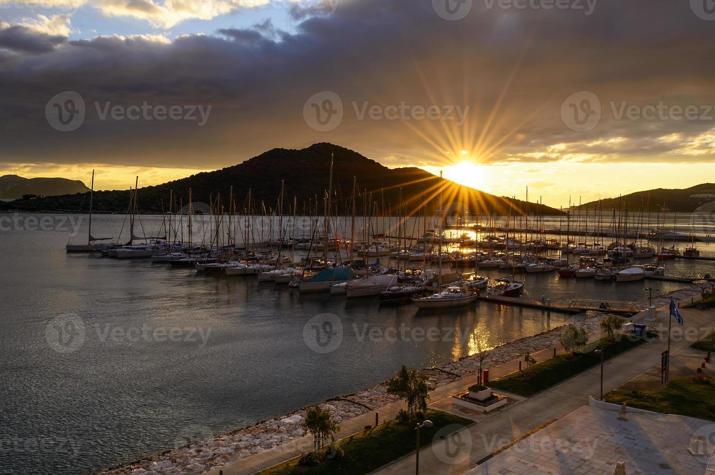 Blick auf den Hafen foto