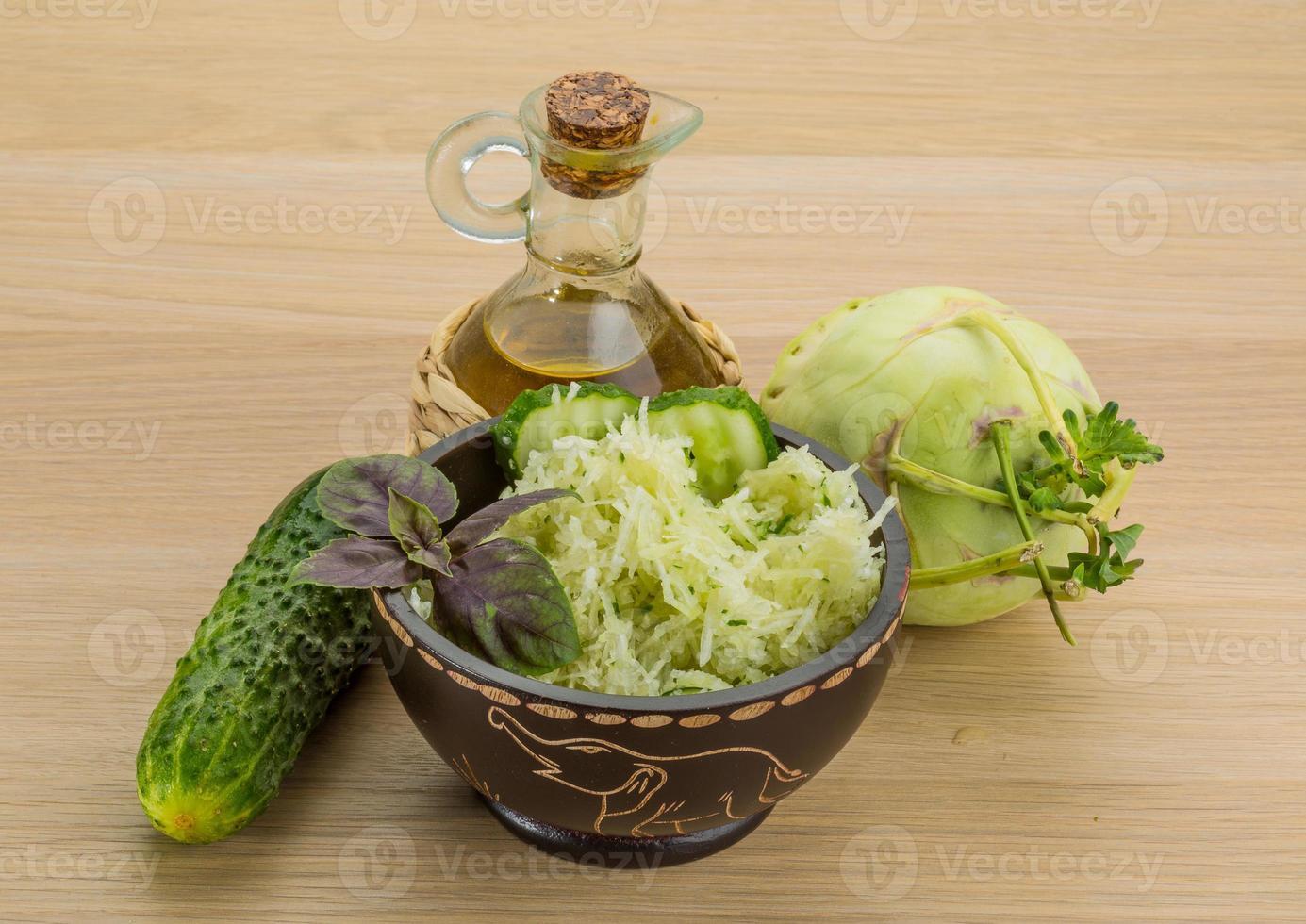Kohlrabi-Salat foto