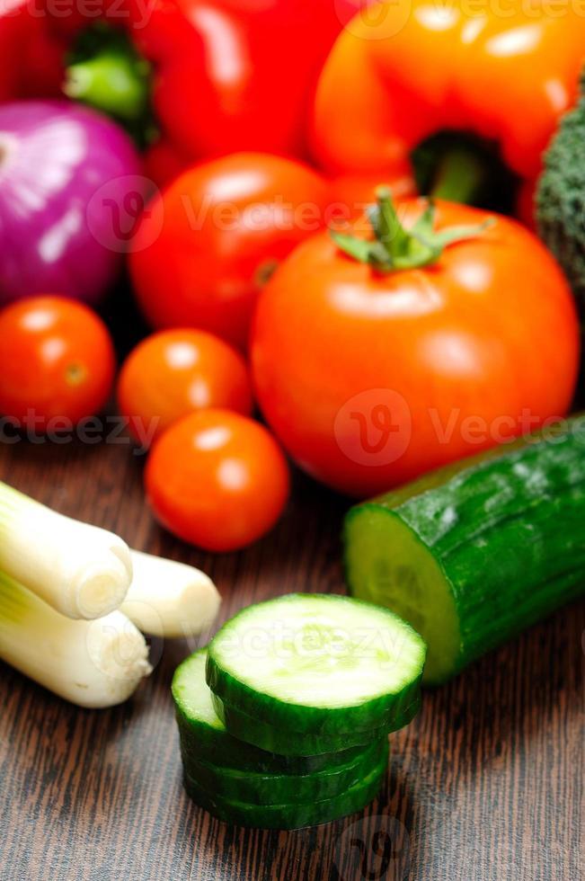 verschiedene rohe Gemüse foto