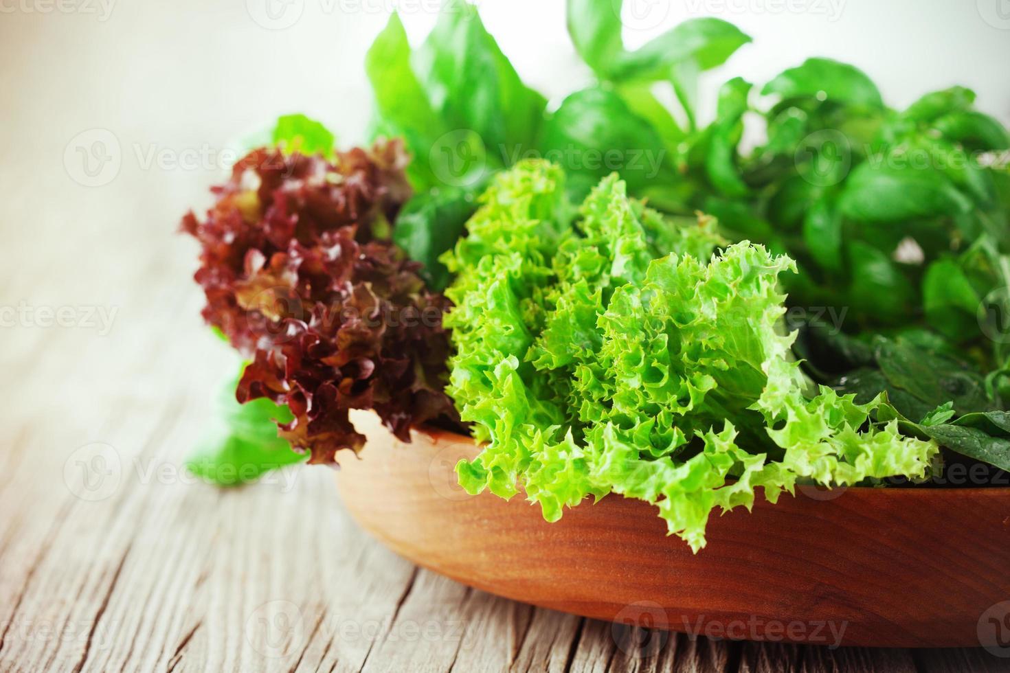 Zutaten für Salat foto