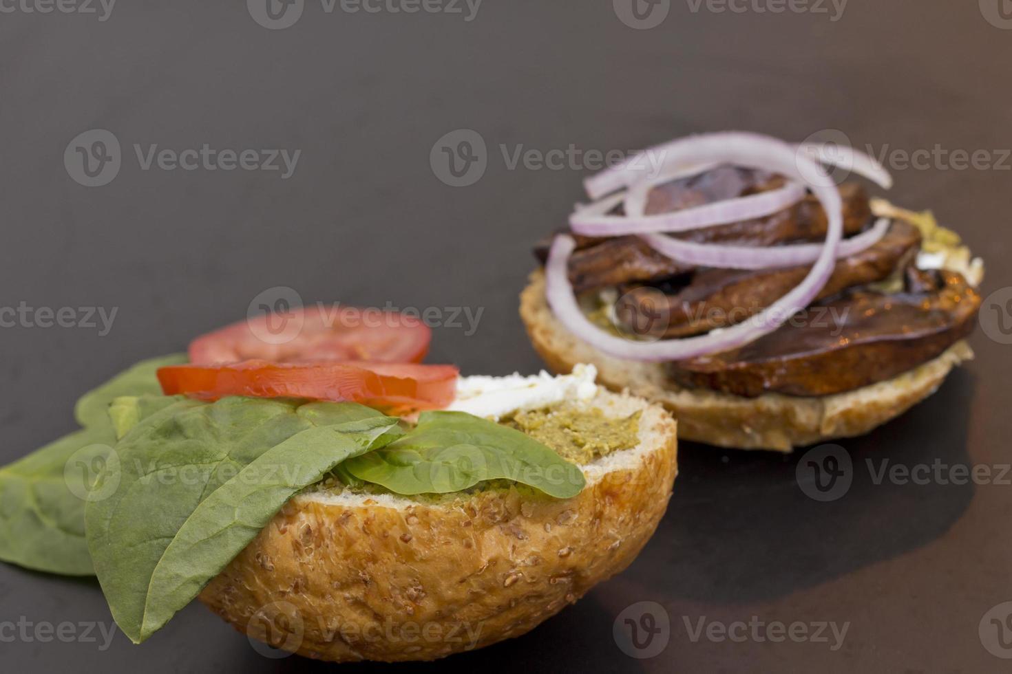 Portobello Pilz Burger foto