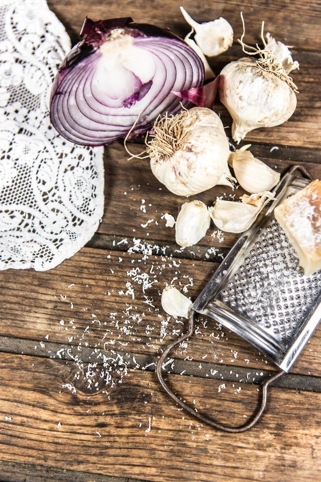 Zwiebel und Knoblauch foto
