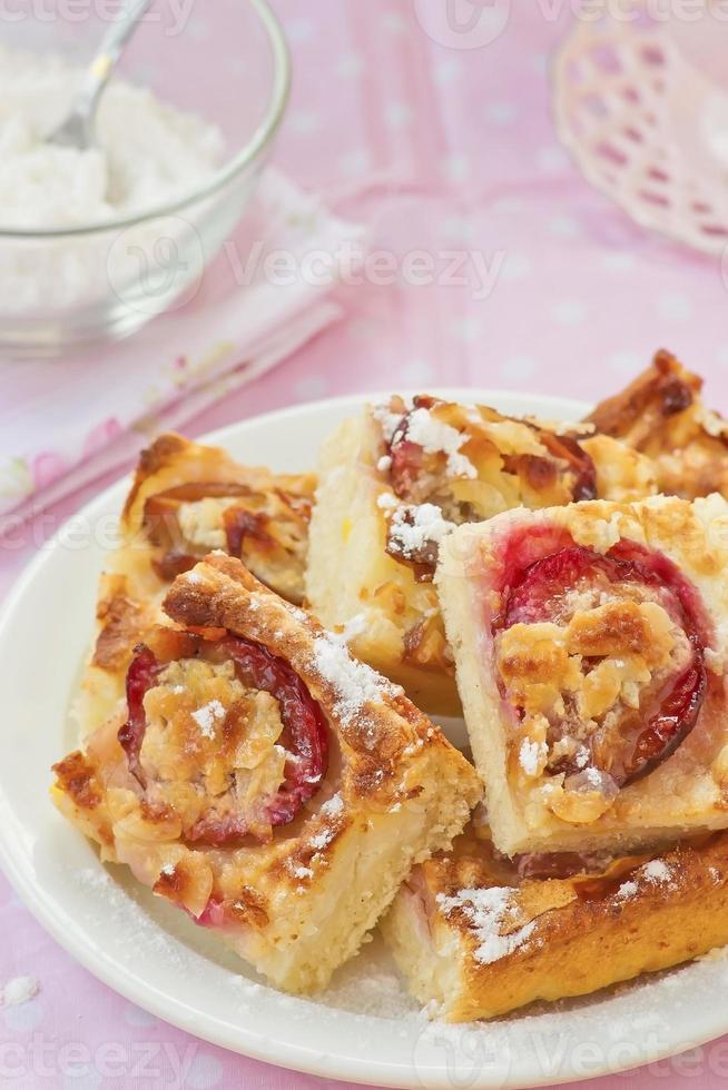 Pflaumen-Reis-Torte foto