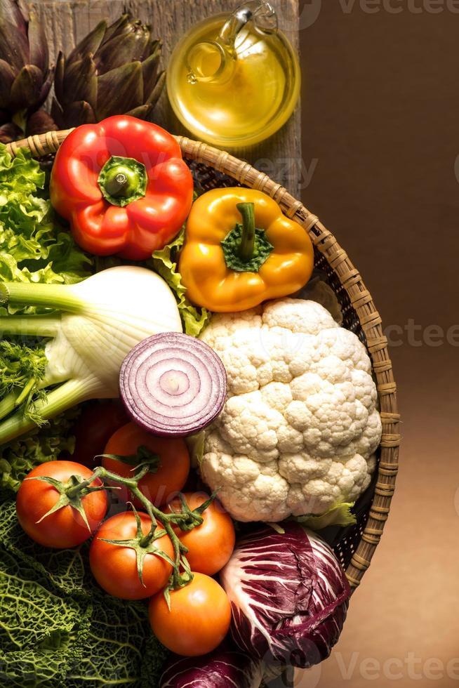 Stillleben mit Gemüse foto