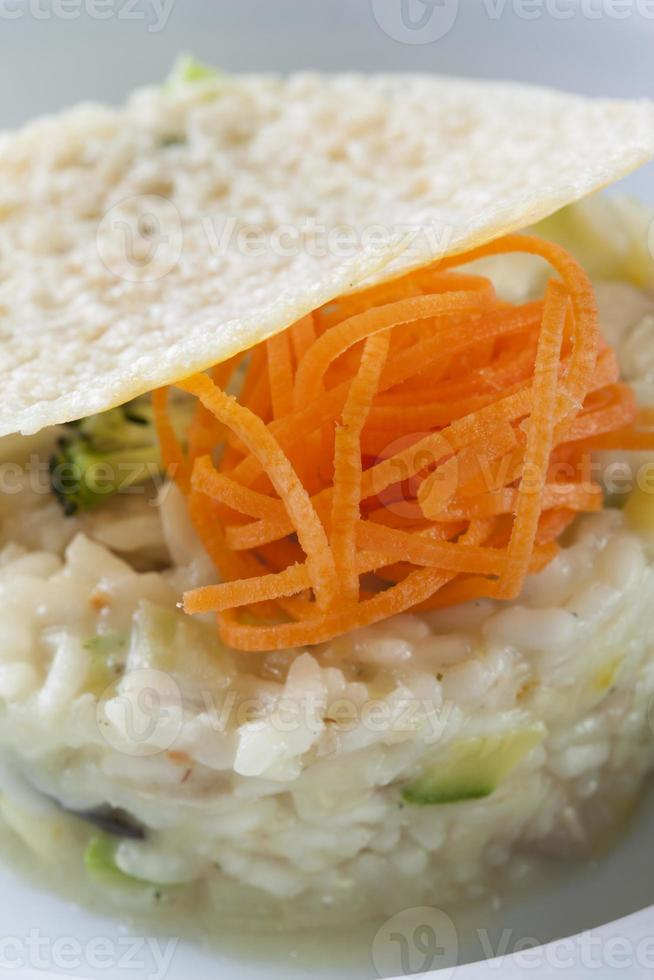 Reis mit Karotten foto