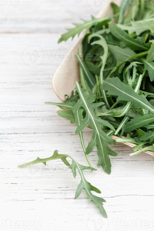 frische Rucola Blätter foto