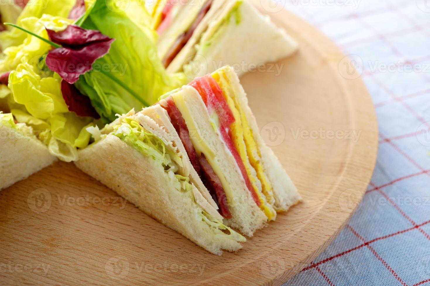 Truthahn Club Sandwich foto