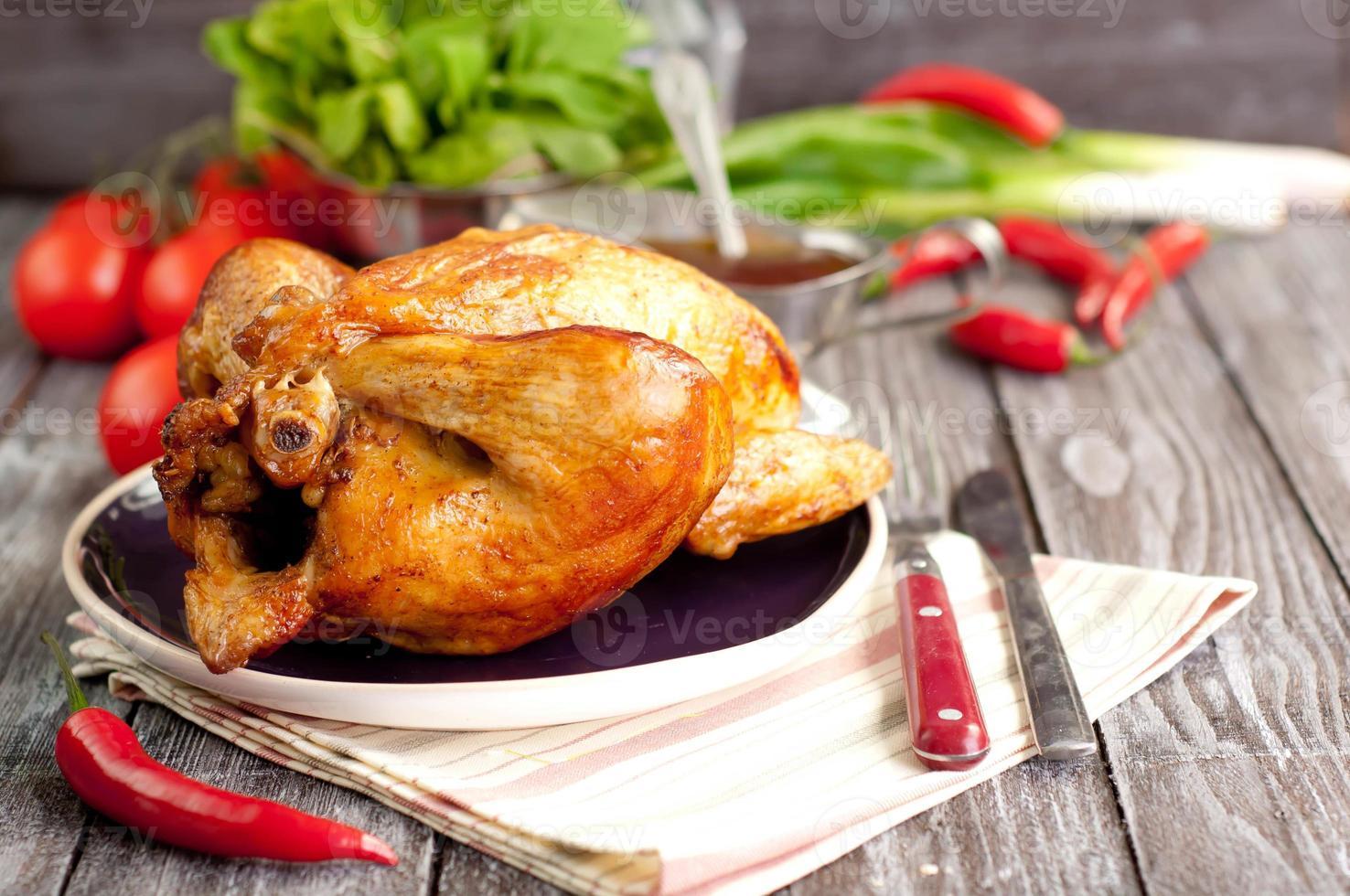 gebratenes Hühnchen foto
