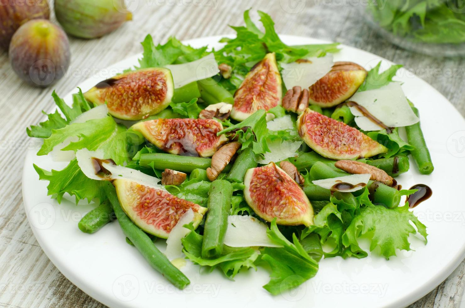 Salat mit Feigen foto
