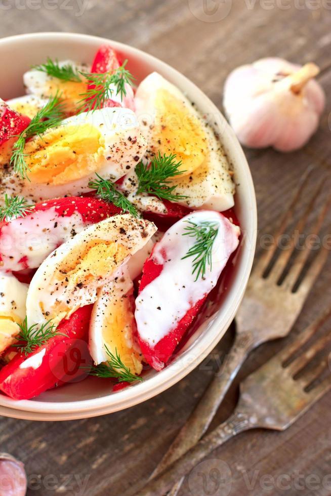 Tomaten-Eier-Salat foto