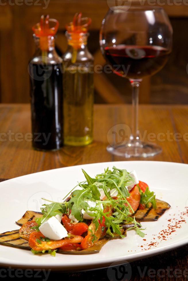 Essen im Restaurant foto