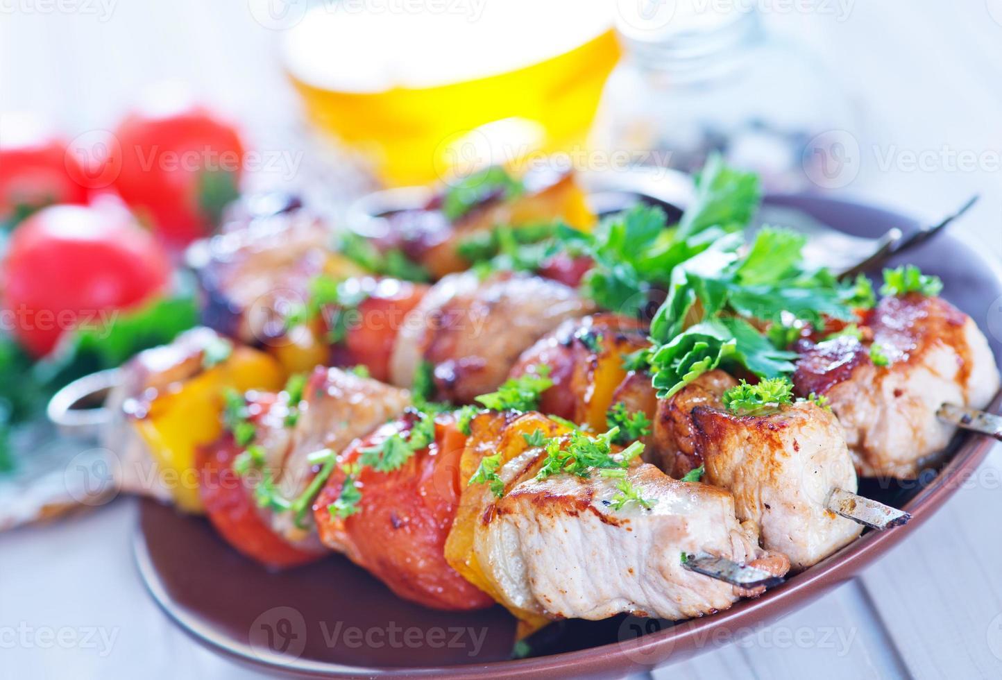 gebratener Kebab foto
