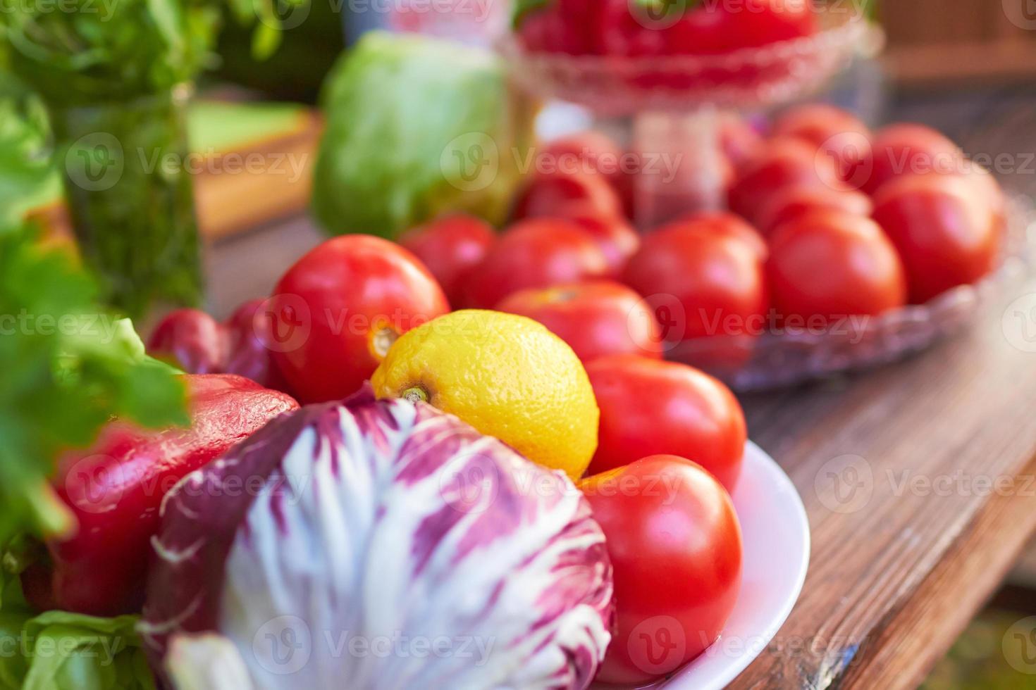 Gemüse auf einem Teller foto