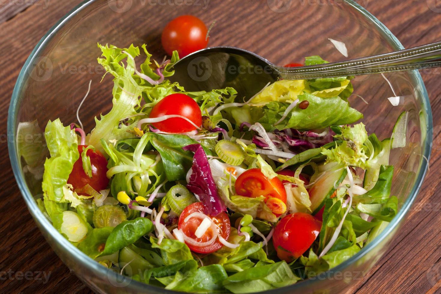 leckerer Salat. foto