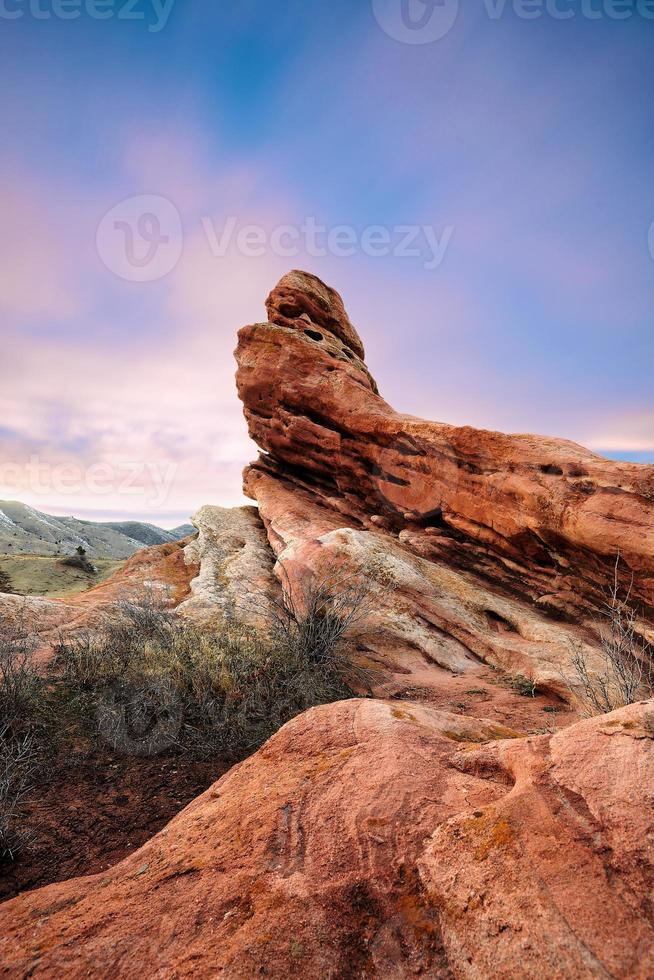 rote Felsen im Südtal foto