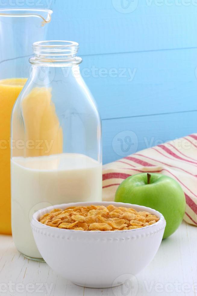 gesundes Cornflakes Frühstück foto
