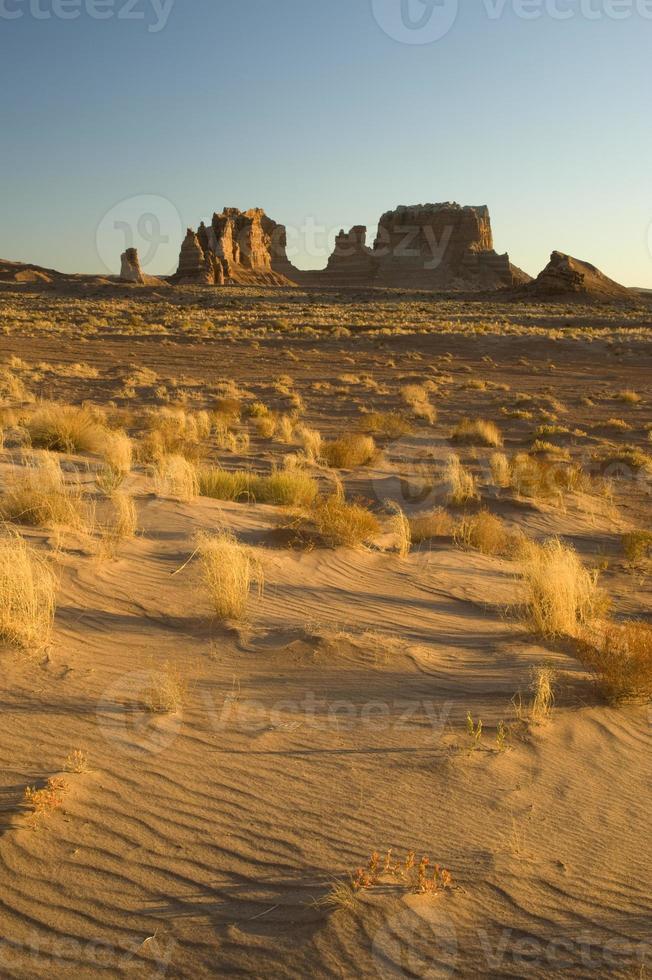 Sanddünen und Mesas, Utah Wüste foto